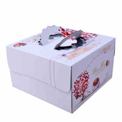 Square Birthday Cake Custom Packaging Boxes Food Grade Lvory Paper 400gsm - 800gsm