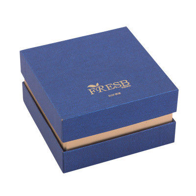 Perfume Tie Cosmetic Box Packaging Gold Stamping UV Printing Pantone Color