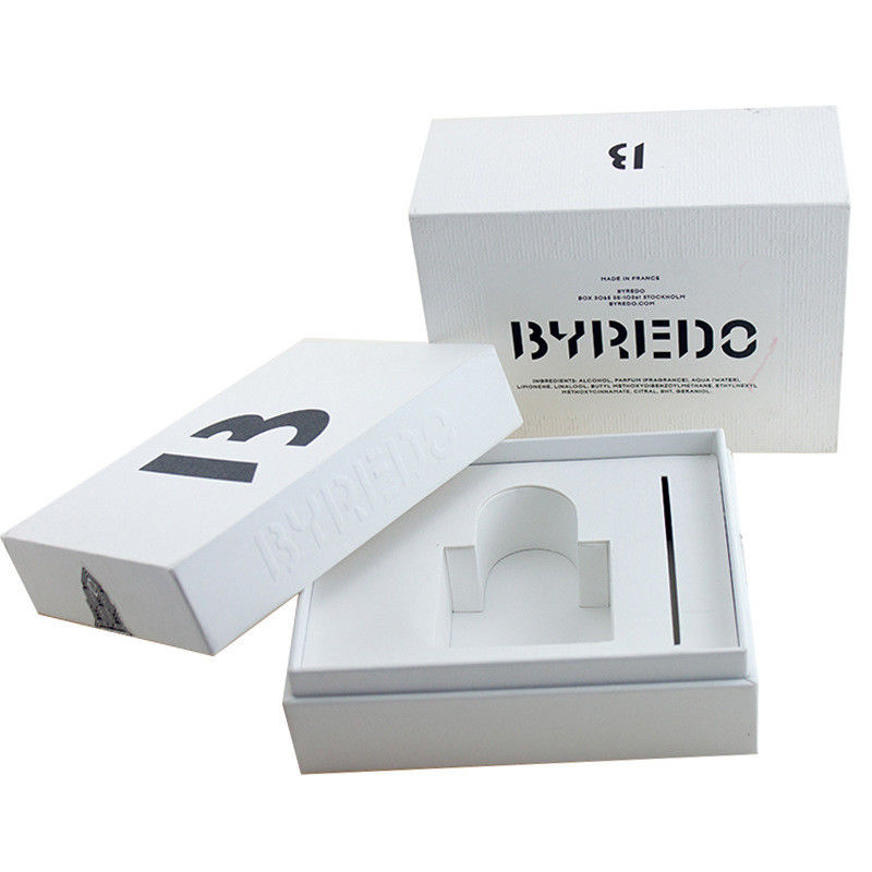 UV Silver Stamping Perfume Packaging Boxes Lid Tray Style CMYK Offset Printing