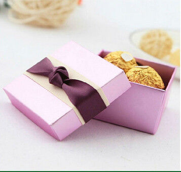 Folding Rigid Chocolate Boxes Retail Packaging Gift Boxes Fancy Paper